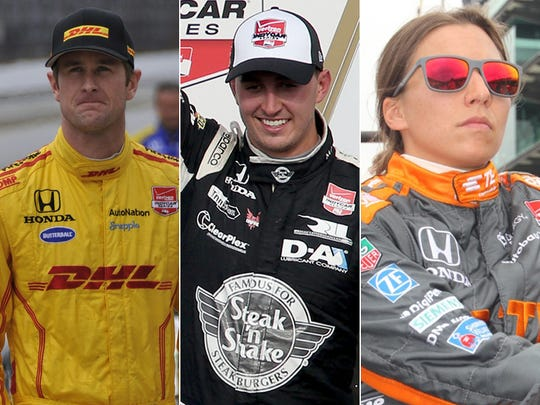 Row 6 of the starting lineup for the 2015 Indianapolis