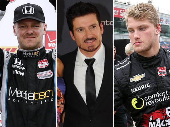 Row 7 of the starting lineup for the 2015 Indianapolis