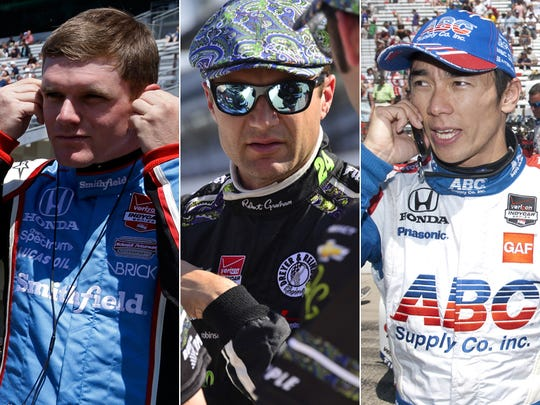 Row 8 of the starting lineup for the 2015 Indianapolis