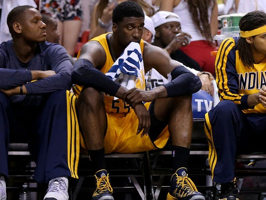 Roy Hibbert saw his role change in the 2014-15 season,