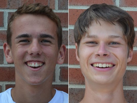 Carmel doubles tennis players Kenny Miller and Zach