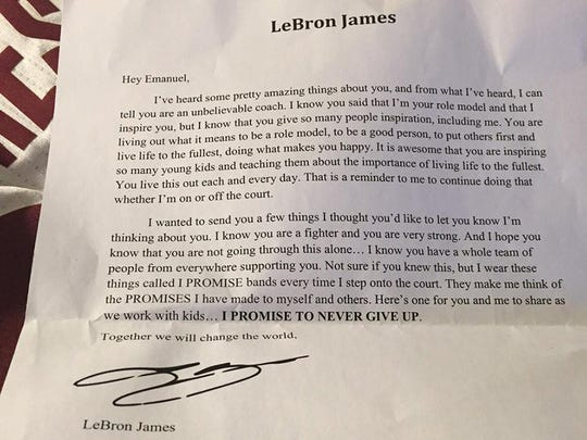 LeBron James' letter to Emanuel Duncan