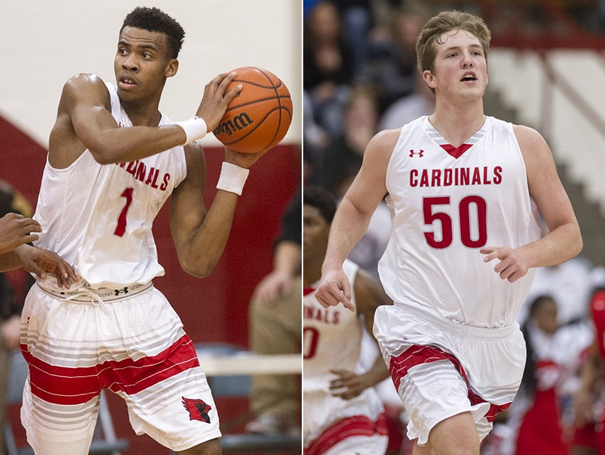 Southport's Paul Scruggs (left) and Joey Brunk (right)