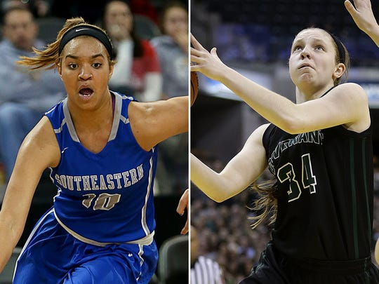 Hamilton Southeastern's Bre Lloyd (left) and Covenant Christian's Rachel McLimore will be among the North group's Indiana Junior All-Stars.