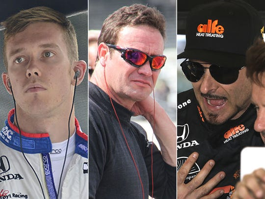 Jack Hawksworth (from left), Buddy Lazier and Alex