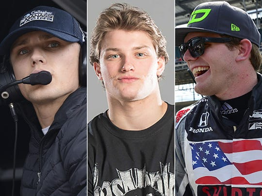 Max Chilton (from left), Sage Karam and Conor Daly.