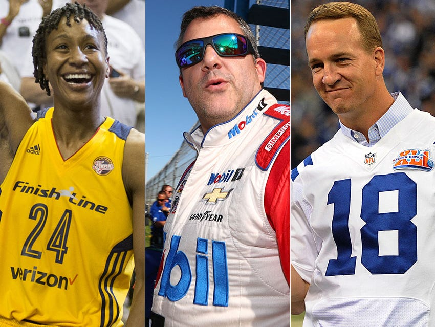 Tamika Catchings, Tony Stewart and Peyton Manning all retired in 2016.
