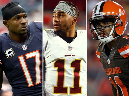 From left: Alshon Jeffery, DeSean Jackson and Terrelle