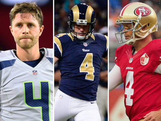 From left: Steven Hauschka, Greg Zuerlein and Phil