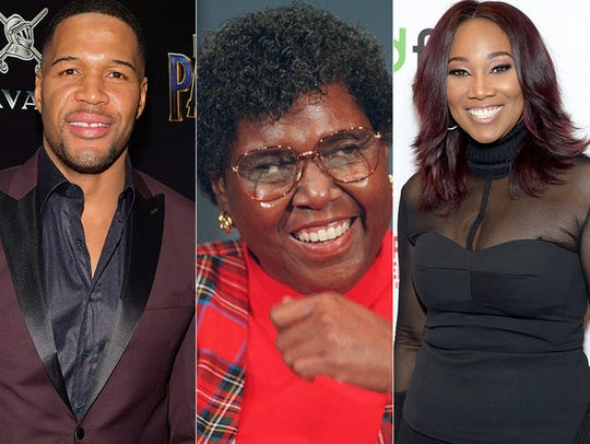 L to R: Michael Strahan, Barbara Jordan and Yolanda