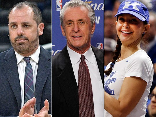 L to R: Frank Vogel, Pat Riley and Ashley Judd.