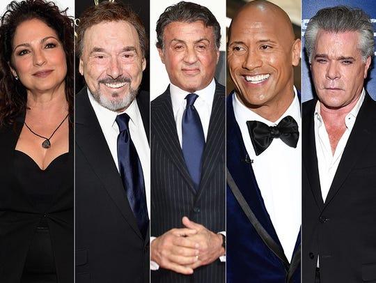 L to R: Gloria Estefan, Joseph Moscalo, Sylvester Stallone,