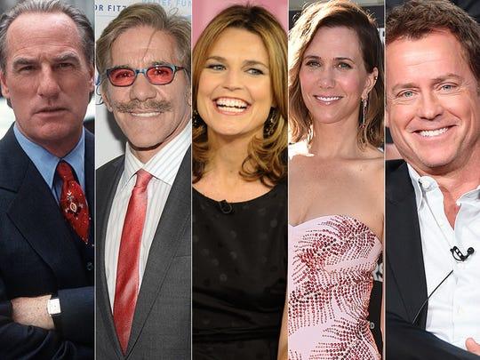 L to R: Craig T. Nelson, Geraldo Rivera, Savannah Guthrie, Kristen Wiig and Greg Kinnear.