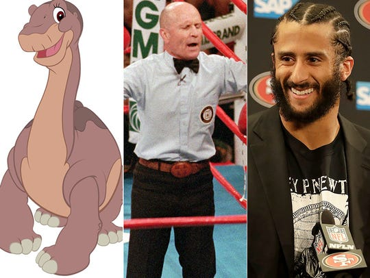 L to R: Littlefoot, Mills Lane and Colin Kaepernick.
