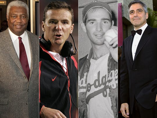 L to R: Oscar Robertson, Urban Meyer, Sandy Koufa and