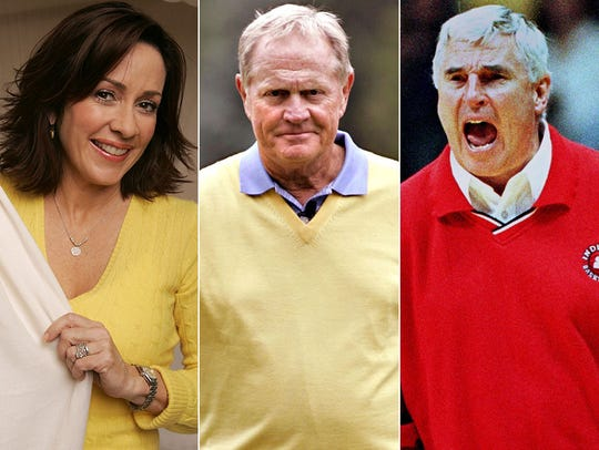 L to R: Patricia Heaton, Jack Nicklaus and Bob Knight.