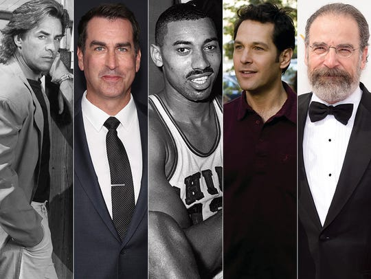 L to R: Don Johnson, Rob Riggle, Wilt Chamberlain,
