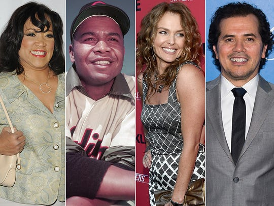 L to R: Jackee Harry, Larry Doby, Dina Meyer and John