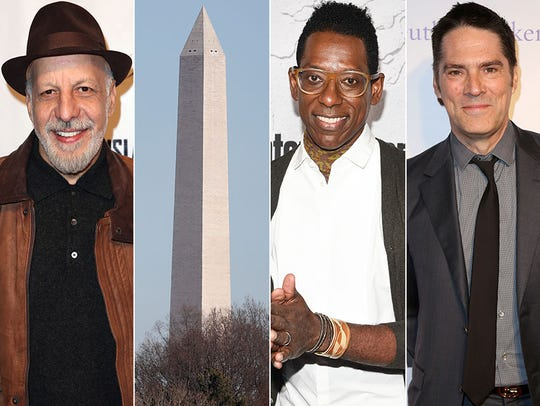 L to R: Erick Avari, Washington Monument, Orlando Jones