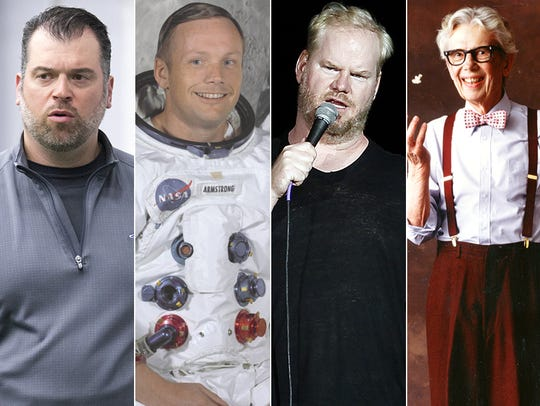 L to R: Ryan Grigson, Neil Armstrong, Jim Gaffigan
