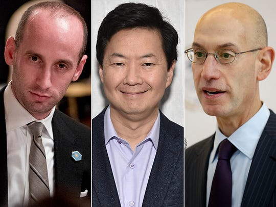 L to R: Stephen Miller, Ken Jeong and Adam Silver.
