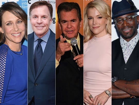 L to R: Vera Farmiga, Bob Costas, Dick Clark, Megyn