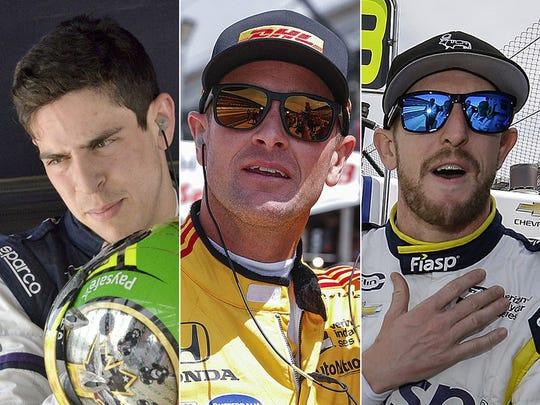 Zachary Claman De Melo, Ryan Hunter-Reay, Charlie Kimball. Row 5 for the 2018 Indy 500.