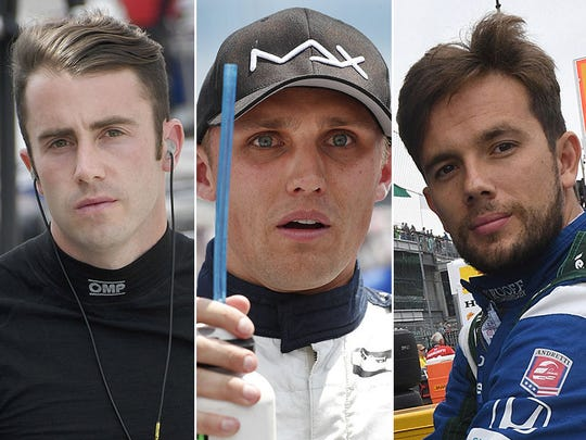 James Davison, Max Chilton, Carlos Munoz. Row 7 for