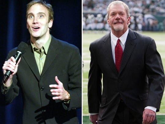 Comedian Jay Mohr (left) and Colts owner Jim Irsay (right).