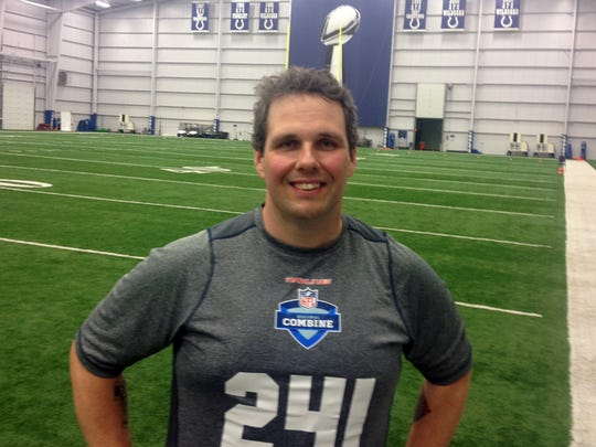 Chris DeHart, who competed at the Colts regional scouting combine.
