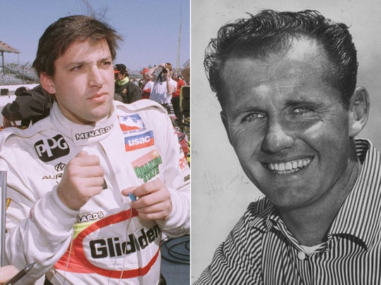 Tony Stewart (left) and Bob Sweikert (right) were born on May 20. Stewart in 1971 and Sweikert in 1926. Both won races at Indianapolis Motor Speedway -- Stewart twice in the Brickyard 400 and Sweikert in the 1955 Indy 500.