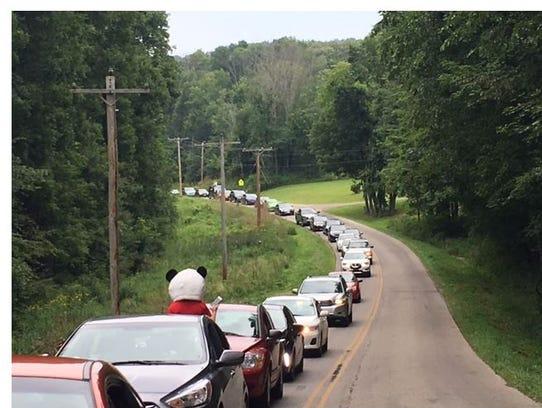 Bunker Hill Road was shut down around 11 a.m. Friday