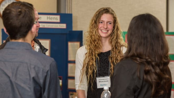 Mikayla Ockels won the Practical Impact Award at the U.S. National BioGENEius challenge in 2015 and will participate in the White House science fair Wednesday.