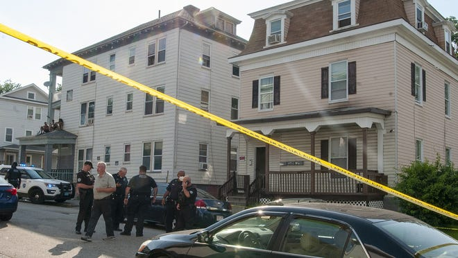 Worcester Police investigate a shooting at 6 Mount Pleasant Street Thursday, July 9, 2020.