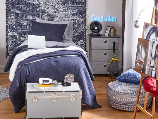Add personality to your room through repeating color.