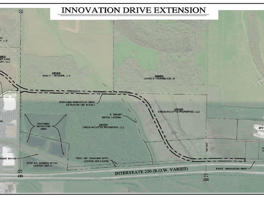 Innovation Drive extension map