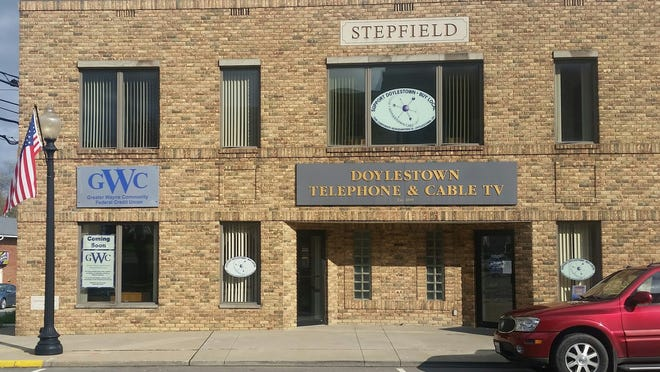 Downtown Doylestown location of the Greater Wayne Community Federal Credit Union in the Stepfield Building.