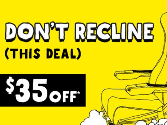 Spirit touts lack of reclining seats with new sale for Book a flight with spirit airlines