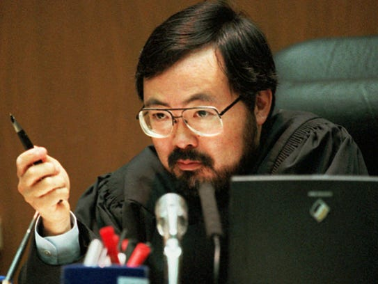 Superior Court Judge Lance Ito addresses the court