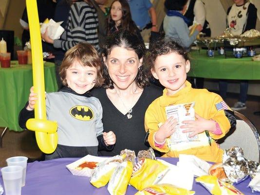Purim - mom and children edit