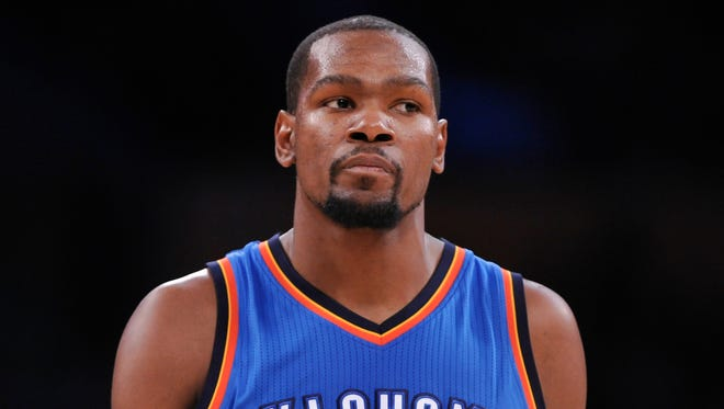 Oklahoma City Thunder forward Kevin Durant (35) is moving up the early MVP voting charts.