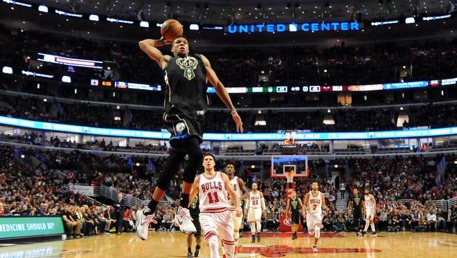 Giannis Antetokounmpo believes the Bucks will rise higher when Khris Middleton returns.