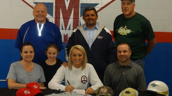 McDowell senior Bailey Stiwinter Miller has signed to play college softball for North Greenville (S.C.).