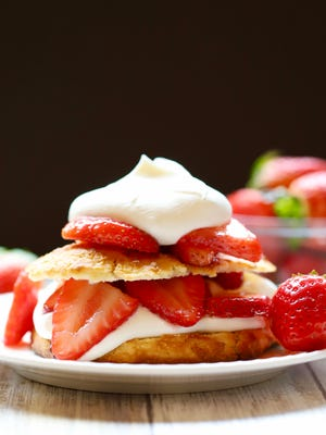 Classic Southern Strawberry Shortcake has a cornmeal biscuit.