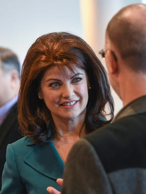 Lt. Governor Rebecca Kleefisch chats with attendees during the DBA Dairy Strong 2017 conference at Monona Terrace, Madison.
