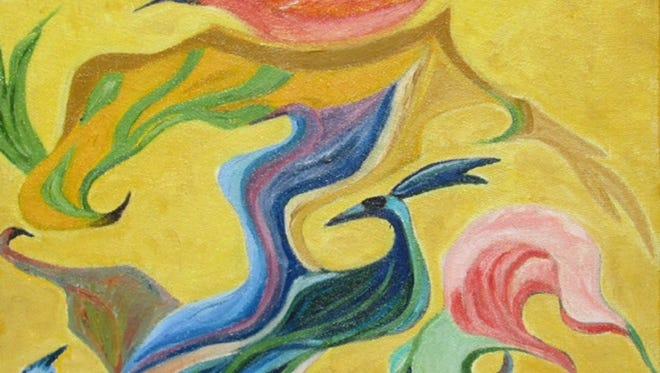 """Indira Servaia, """"The Rhythm,"""" acrylic on canvas"""