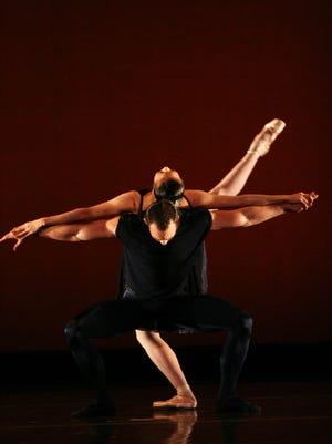 "A scene from the Ib Andersen production ""Indigo Rhapsody,"" part of the Ballet Arizona ""Masters of Movement"" program."