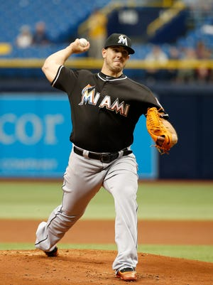 Jose Fernandez struck out eight of the last 10 batters he faced.