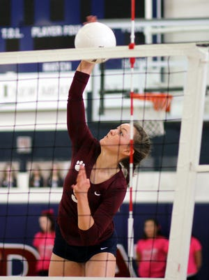 Senior Amanda Borden is the leader of the Deming High Lady Wildcats. The 5-foot-9 hitter/setter leads the DHS varsity through a tough District 3-6A volleyball season. She has collected a team-high 109 kills and dished out 84 assists to go along with 13 ace serves and 60 digs. Borden will lead the Lady Cats in search of their first district win at Gadsden High School on Saturday. Match times are at 10 a.m. for the freshmen, 11 a.m. for the junior varsity squads and noon for the varsity teams.