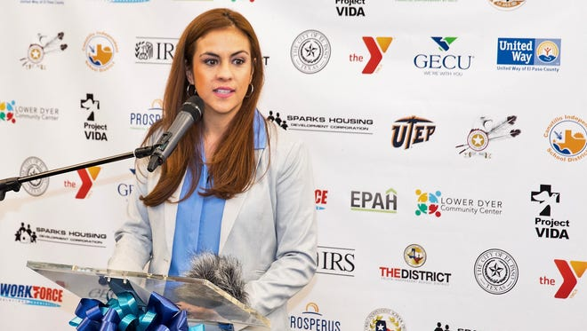 Ruby Alvarez, a leader of the Volunteer Income Tax Assistance Program in El Paso, launches this year's free income-tax preparation help at a Jan. 25 press conference.